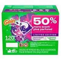 Gain Flings! Laundry Detergent Pacs, Moonlight Breeze (120 ct.)
