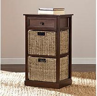 Southern Enterprises Barrett 2-Basket Storage Shelf