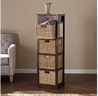 Southern Enterprises Barrett 4-Basket Storage Tower