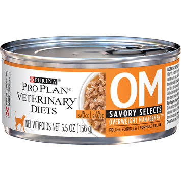 Purina Pro Plan Veterinary Diets OM Savory Selects Overweight Management Feline Formula Wet Cat Food