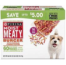Purina Moist & Meaty Dog Food, Burger (6 oz, 60 ct.)