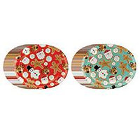 Member's Mark Snow Much Fun Paper Plates - Ovals - 50ct.