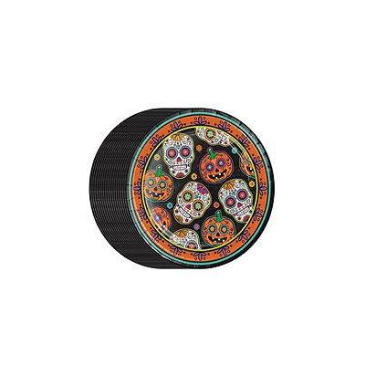 Member's Mark Decorative Skulls Paper Plates - Dinner Plates - 80ct.
