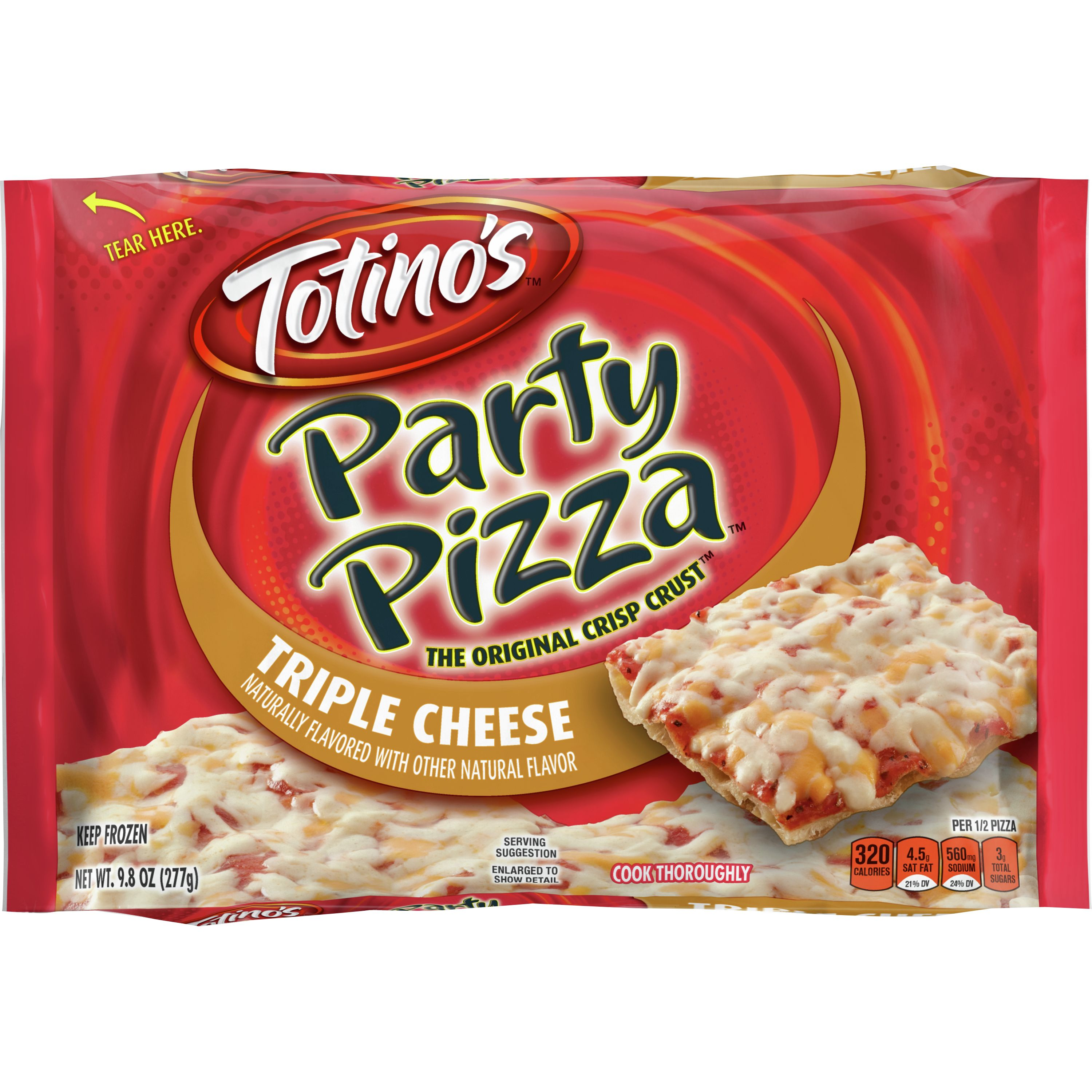 Totino's Triple Cheese Party Pizza, 9.8 oz
