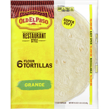 Old El Paso Restaurant Grande Shells 6 Ct, 21.5 oz