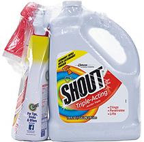 Shout Triple-Acting Liquid Refill 1 Gallon + Shout Trigger (32 oz.)