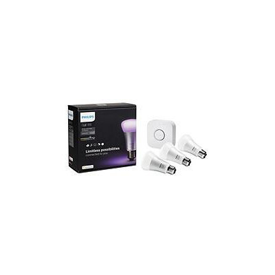 Philips Hue White and Color Ambiance A19 Starter Kit