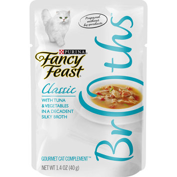 Purina Fancy Feast Wet Cat Food Complement, Broths Classic With Tuna & Vegetables in a Silky Broth - 1.4 oz. Pouch