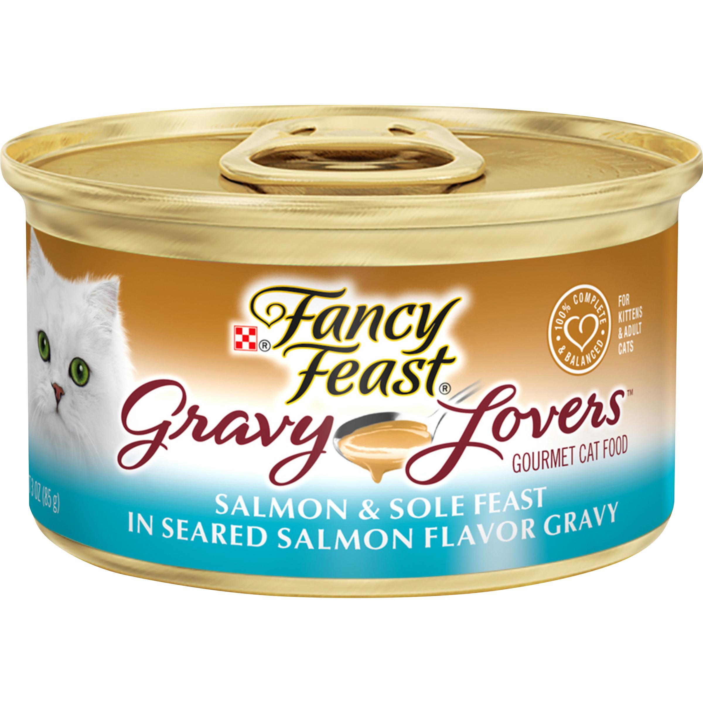Purina Fancy Feast Gravy Lovers Salmon & Sole Feast in Seared Salmon Flavor Gravy Wet Cat Food -
