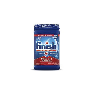 Finish Powerball Finish Max in One Plus Dishwasher Detergent Powerball Tabs (105 ct.)