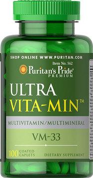 Puritan's Pride Ultra Vita-Min Multivitamin & Minerals VM-33-100 Caplets