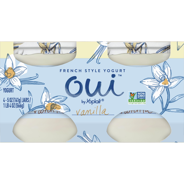Oui by Yoplait French Style Yogurt, Non-GMO, Gluten Free, Vanilla, 5.0 oz (4 Ct)