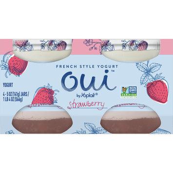 Oui by Yoplait French Style Yogurt, Non-GMO, Gluten Free, Strawberry, 5.0oz(4Ct)