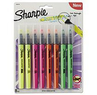 Sharpie(R) Clear View(R) Stick Highlighters, Chisel Tip, Assorted, Pack Of 8
