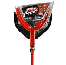 Libman Heavy Duty Brooms w/ Dustpans, 2 Pack (4 pieces)