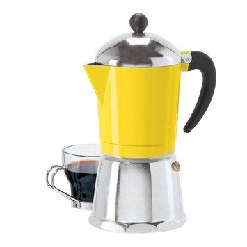 OGGI 6 Cup Cast Aluminum Stovetop Espresso Coffee Maker - Yellow