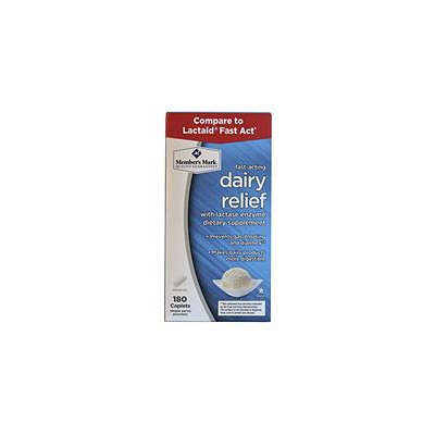 Member's Mark Fast-Acting Dairy Relief, 180 Count