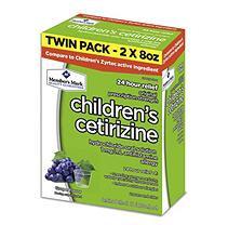 Member's Mark Children's Cetirizine Allergy Relief, Grape (2 ct, 8 oz. ea.)