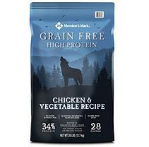 Member's Mark Grain-Free Chicken & Vegetable Recipe Dog Food (28 lb.)