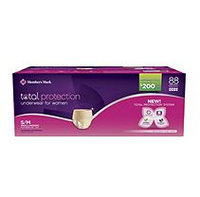 Member's Mark Total Protection Underwear for Women, Small/Medium (88 ct.)