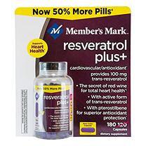 Member's Mark 100mg Resveratrol Plus+ Dietary Supplement (180 ct.)