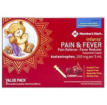 Member's Mark Infants' Pain & Fever Suspension Liquid, Cherry (2 fl. oz, 3 pk.)