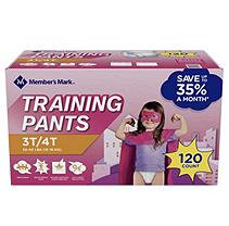 Member's Mark Training Pants for Girls 3T/4T, 32-40 lbs. (120 ct.)