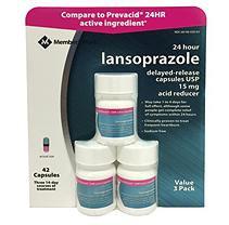 Member's Mark Lansoprazole Delayed-Release Capsules, USP 15mg, 42ct.