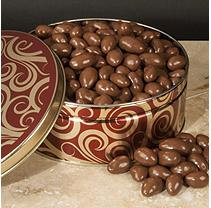 A L Schutzman Chocolate Covered Almonds Gift Tin (40 oz.)