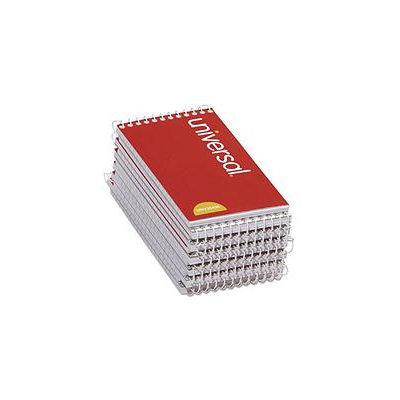 Keurig Universal UNV20435 Wirebound Memo Books, Narrow Rule, 3 X 5, White, 12 50-Sheet