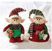 2 Piece Elf Decor Set