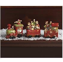 Burton+burton Porcelain Light-Up Train Set