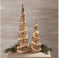 Burton+burton Rustic Rattan Christmas Trees