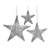 Burton+burton Grapevine Stars Wall Decor (3 sets of 3)