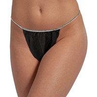 For Pro Tanga Unisex Bikini, Black, 50 Count