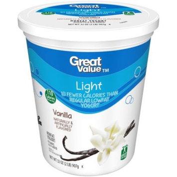 Great Value Vanilla Light Nonfat Yogurt, 32 oz
