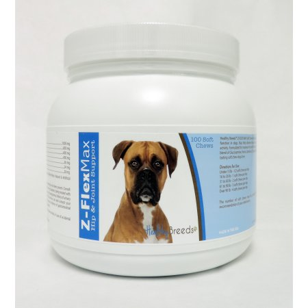 Healthy Breeds 840235103127 Boxer Z-Flex Max Hip & Joint Soft Chews - 100 Count