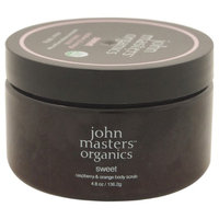 john masters organics Body Scrub, Sweet - Raspberry & Orange, 4.8 oz