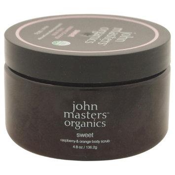 john masters organics Body Scrub, Sweet - Raspberry & Orange, 4.8 oz