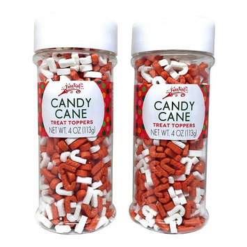 Festival Candy Cane Sprinkles Treat Topper Pack of 2