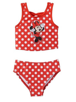 Disney Infant & Toddler Girls Red Polka Dot Minnie Mouse 2PC Swimming Suit 18m