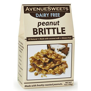 AvenueSweets Vegan Gourmet Brittle Peanuts Candy 7oz - Old Fashioned Peanut Candy, Gift Food Box (Peanut, 1 Box)