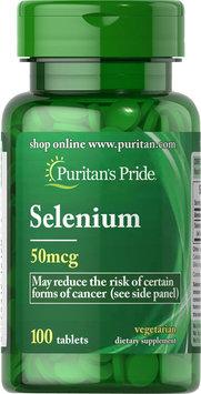 Puritan's Pride Selenium 50 mcg-100 Tablets