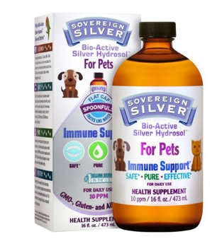 Bio-Active Silver Hydrosol for Pets Sovereign Silver Natural Immunogenics 16 oz Liquid