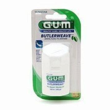 G-U-M (Butler) Butlerweave, 200 Yard Mint Waxed Dental Floss 200 yd (183 m), Pack of 6