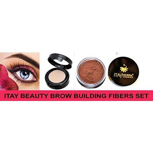 Itay Beauty Brow Building Fibers Set (Fibers+Wax) (Auburn) by Itay Beauty