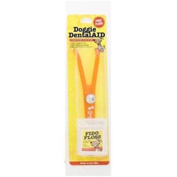 Doggie DentalAID 050-04 Fido Floss Holder with White Letters Sundurst Orange