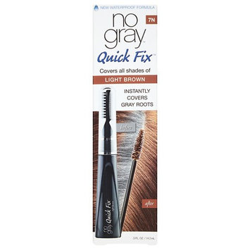 No Gray Quick Fix Instant Touch-Up for Gray Roots, Light Brown 0.5 oz.(pack of 4)