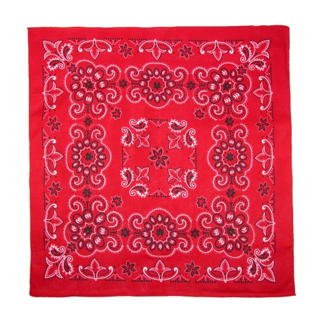 CTM® Unisex 27 Inch Extra Large Cotton Texas Paisley Bandana, Red