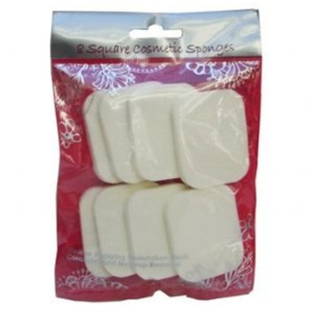 Swissco Makeup Sponges, Beauty Cosmetic 8 pc Square Shaped Set for Makeup Application & Removal